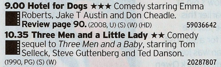 BBC1 - Two decent films back to back? What would be better than that?