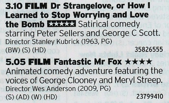 Film4 - Interesting double bill here from Film4, one to mess with the kids and one to entrance them
