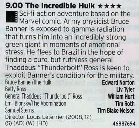 ITV2: Or this, the best version of the Hulk when he isn't in The Avengers?