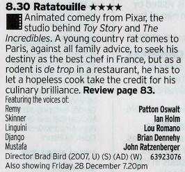 BBC3 - Top drawer Pixar film, promise