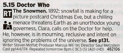 BBC1 - Now here is what Christmas Day is all about, The Doctor saving the world yet again