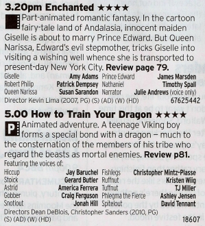 BBC1 - Here's a pretty good double bill, the first a great live action Disney film with some superb songs followed by one of the best Dreamworks films