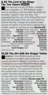 C4 - Well, if you watched The Fellowship yesterday you may as well do the sequel right? Then you have the original version of the Dragon Tattoo films, a tough watch but a good one