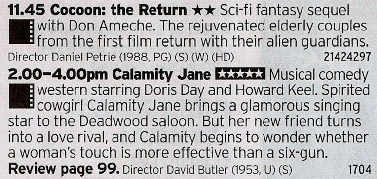 C4 - Another great double bill with an 80s classic followed by a proper classic musical