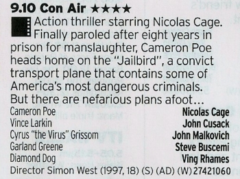 2110 BBC3 - Remember when Nic Cage was that guy who was making a career playing kooky characters in films? Then he found out the real money was to be had in chopping people in the throat? Great times.