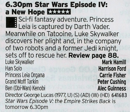 1830 ITV2 - As we get ready for Part VII, let's go back to the original to see how it's done. Well, the original with dodgy CGI crowbarred in. Sigh.