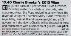 2240 BBC2 - He may not quite have the bite he had in his pomp but Charlie Brooker is still a voice that has a place on TV