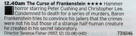 0040 BBC2 - More Classic Hammer goodness, this time we're hitting up Frankenstein and his monster