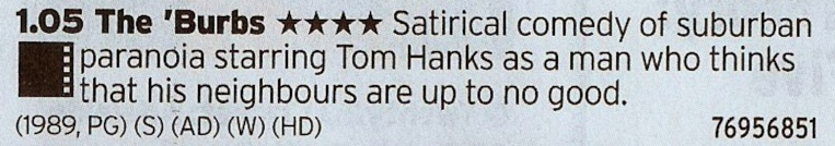 1305 ITV1 - Then have a taste of Tom Hank's Secret Best Film. No really, it's ace