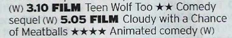 Not a great film to sequelize but there you go, also treating it as a double bill with Cloudy is a bit of a stretch so it should be obvious which is the clear winner out of these two