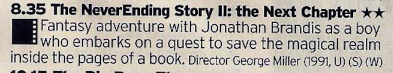 A sequel to The Neverending Story? Well, makes sense if the story is supposed to be Neverending