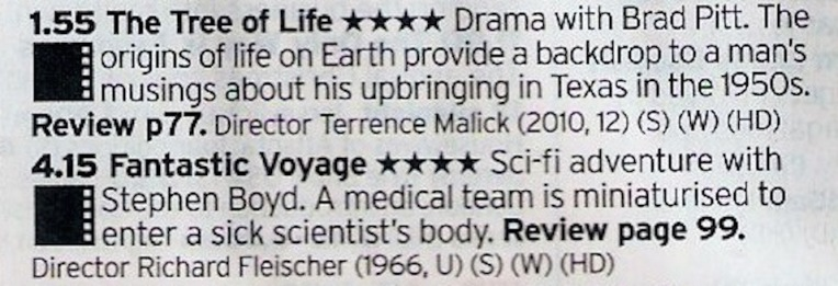 Bizarre double bill here; one is a frankly bonkers that is either amazing or self indulgent twaddle, the other is a prime slice of 60s sci-fi.