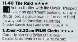 Great double bill here; one The Very Best Action films of the last decade followed by a film that is pretty much it's tonal opposite