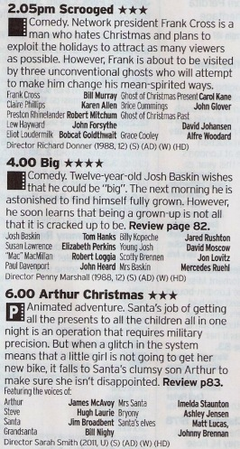 The quality may drop off somewhat here but, in order, you get the following: the best Christmas film, a Tom Hanks classic and Aardman Animations with a lovely Christmas tale