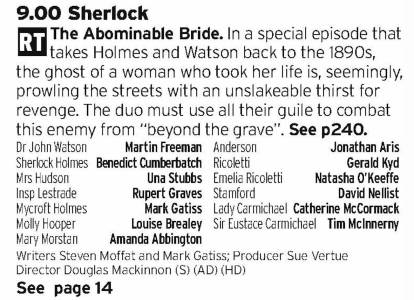 2100 - BBC1 - Modern BBC Sherlock has been very enjoyable, despite the odd misstep, so taking the team behind them and going back to the original Victorian Sherlock setting should make for a great watch