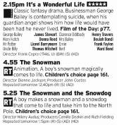1415 - If you want all of the Christmas then C4 take a good stab at it right here; a Christmas classic film followed by both Snowmen shows? Good lord
