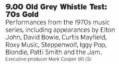 2100 - BBC4 - When this says 70s gold it means it. Seriously, this show contains the best version of jumpin Jack Flash and the greatest sleeves ever AT THE SAME TIME