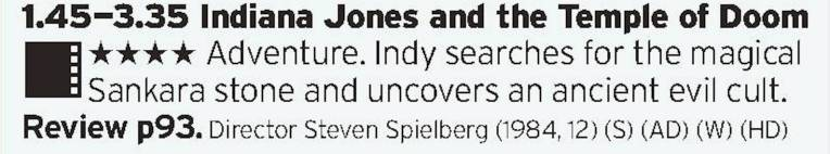 1345 - BBC1 - More Indy! The one that borders on being incredibly racist yet still somehow ends up being charming and exciting