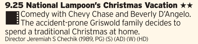 0925 - BBC1 - Welcome in your Christmas Day with The Griswalds