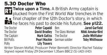 1730 - BBC1 - Remember when we used to have Christmas without Doctor Who? A different time