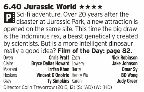 1840 - ITV1 - Dinosaurs! The fact that this hit so big was a bit of a surprise but also shows just what a good idea the original was. This might be flawed in parts but still delivers on what a Summer Blockbuster should; a whole heap of fun