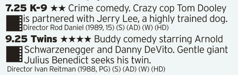 0725 - ITV1 - You want some 80s buddy comedy films? Well, here's two 80s buddy comedy films for you back to back!