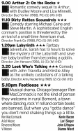 0900 - Channel 5 - Here you have a veritable smorgasbord of 80s treats just for you; a terrible sequel, a decent at best comedy, a fantasy classic, a daft comedy and Kevin Bacon dancing. A treat.