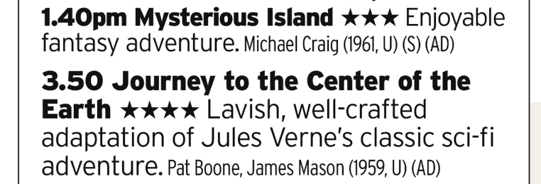 1340 | Film4 | Nice double bill of late fifties/early sixties adventure films here
