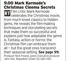 2100 | BBC4 | Mark Kermode is a great film reviewer who has a wide appreciation of film genres so seeing him going through Christmas films should be a treat
