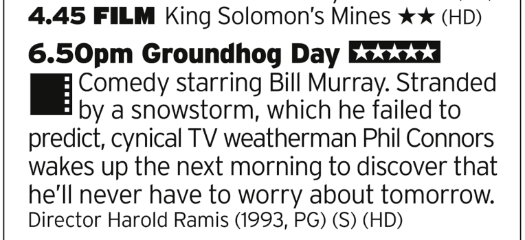 1645 | Paramount | Here's a double bill for you: hopefully the first film is the 1985 version of King Soloman's Mines, if not then good luck to you. That daft film is then followed by what is arguably Bill Murray's best film