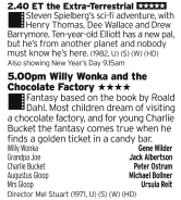1440 | Five | Here's some family treats for you: text book 80s Spielberg then the superior version of Willy Wonka (even if it is a bit ropey in places