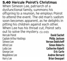 1740 - ITV3 - More Poirot, this time from the ITV version of the character