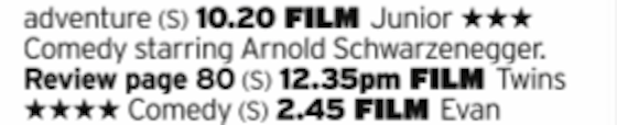 1020 - 5star - Get those presents unwrapped quick so you can get on this Comedy Arnie Double Bill, in fact both of his films with Danny Devito and, if we're honest, probably the best way round to watch them