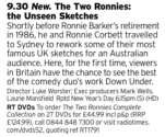 2130 - Channel 5 - More unseen footage of a classic double act, this time from a show they did in Australia, hopefully it won't be too familiar but even then it'll be worth a watch