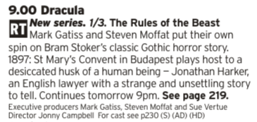 "2100 - BBC1 - ""From the makers of Sherlock"" may not be for everyone but this looks like it's going to be a lot of fun"