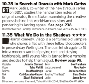 2235 - BBC2 - If you've hot had enought Dracula action then this should sort you out, although one is a bit more of a comedic take on Vampires